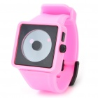 Cool Simple Point Pointers Rubber Band Wrist Watch - Pink + Black (1 x 377S)