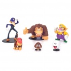 Cute Mario Cartoon Figures Toys with Base (6-Piece Set)