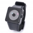 Cool Simple Point Pointers Rubber Band Wrist Watch - Black (1 x 377S)