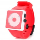 Cool Simple Point Pointers Rubber Band Wrist Watch - Red + white (1 x 377S)