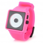 Cool Simple Point Pointers Rubber Band Wrist Watch - Peach + Black (1 x 377S)