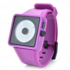 Cool Simple Point Pointers Rubber Band Wrist Watch - Purple + Black (1 x 377S)