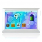 Portable 4.3&quot; Touch Screen Media Player with TV-Out / TF - White (4GB)