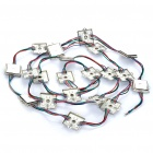 Waterproof 14.4W 780LM 60-5050 SMD RGB LED Light Iron Shell Square Module (DC12V)