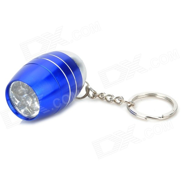 Water Resistant Mini 6-LED White Light Camping Flashlight Keychain - Blue + Silver (2 x CR2032) mini 30lm white 8 led water resistant flashlight w red laser light blue 3 x aaa