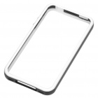 Stylish Protective Bumper Frame Case for iPhone 4 - Black + White