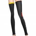 Designer's Outdoor Cycling Leg Warmers - Black + Red + Yellow (Size L / Pair)