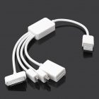 4-in-1 USB Male to Mini USB / Micro USB / Apple 30pin / Micro SD Card Reader Cable (21cm)