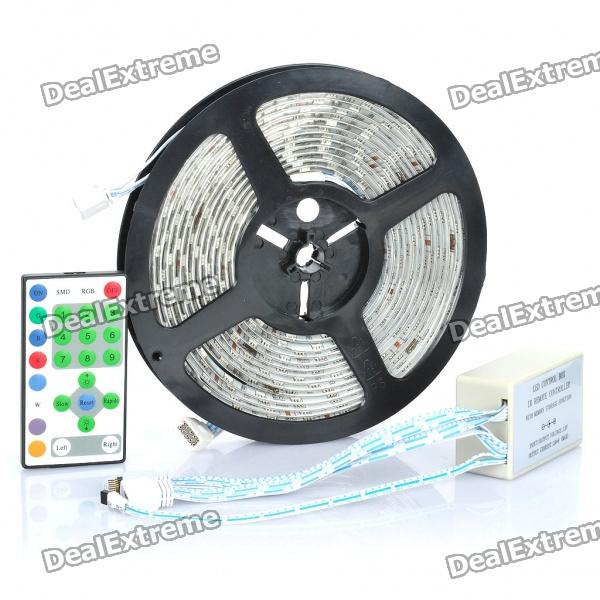 72W Soft Flexible Cuttable 270-LED SMD Lamp Tape Strip - (RGB 5M/DC 12V)