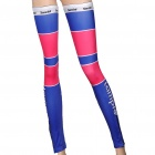 Lampre-Team Cycling Bike Leg Sleeve / Leg Warmer - Rot + Blau (Pair / 74cm-Länge)