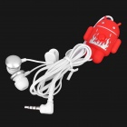 Stylish Android Robot Style In-Ear Earphone w/ Microphone Control (3.5mm-Jack / Random Color)