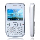 "L1 Quad-SIM QWERTY GSM Barphone w / 2,2 ""-LCD-Bildschirm, Wi-Fi, JAVA und TV - White"