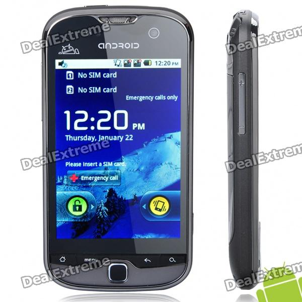 """G26 Android 2.2 GSM Smartphone w/ 3.5"""" Resistive Screen, Dual SIM, Wi-Fi, GPS and TV - Gray"""