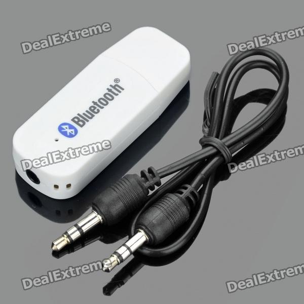p usb bluetooth v  edr adapter with mm audio jack white