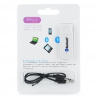 USB Bluetooth V2.0+EDR Adapter with 3.5mm Audio Jack - White