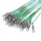 Fishing Steel Wire Connector Tackle - Green (72-Piece)