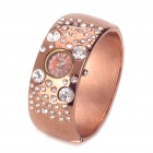 Elegant Bracelet Style Shining Rhinestone Quartz Wrist Watch - Gold Brown (1 x 377)