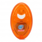 0.2W 5000-22000HZ Electronic Mini Portable Mosquito Repeller - Orange + White (1 x CR2032 Battery)