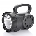 Rechargeable 3W 180-Lumen 3-Mode 1-LED White Light Spotlight Searchlight - Dark Grey + Black