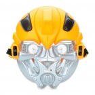 Transformers Bumblebee PVC Plastic Cosplay Mask - Yellow + Silver