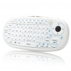 Ergonomic Handheld 2.4GHz Wireless 65-Key Keyboard w/ Receiver - White