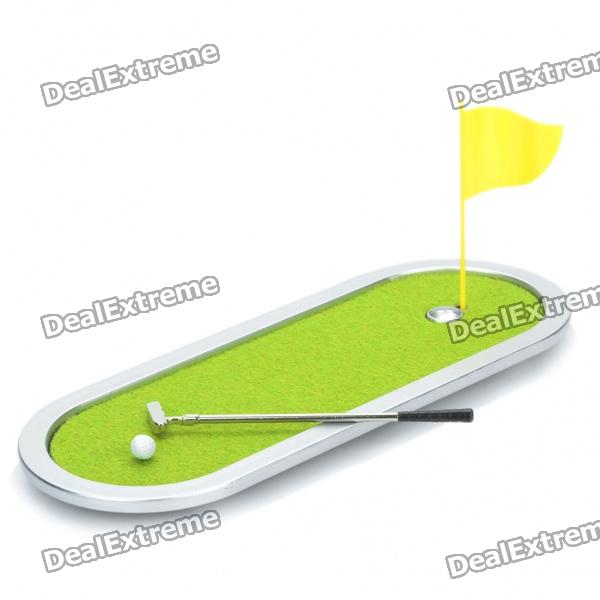 Simulation Mini Golf Course Display Toy Set with Golf Club + Ball + Flag golf ball sample display case