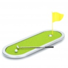 Simulación Curso de Mini Golf Toy Display Set con Golf Club + Ball + Flag