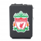 Automatic Ejection Butane Lighter Cigarette Case - Black (Holds 10 / Liverpool Club Pattern)