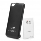 Genuine Plus One 3.7V/1350mAh Rechargeable External Battery Case for iPhone 4/4S - Black + White