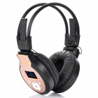 Sports Stereo Rechargeable MP3 Player Headset w/ TF / Line In / FM - Black + Golden