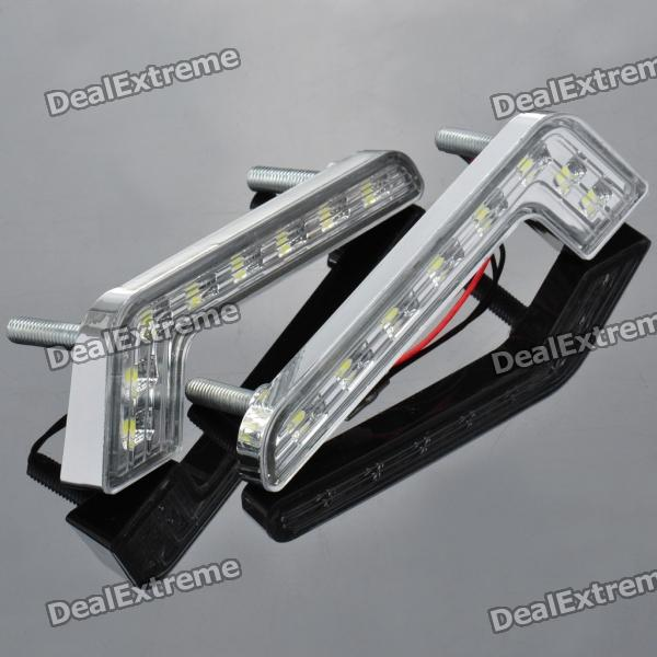 1.6W 6000K 144-Lumen 8-5050 SMD LED White Light Car Tagfahrlicht (DC 12V / Paar)