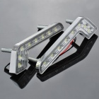 1.6W 6000K 144-Lumen 8-5050 SMD LED White Light Car Daytime Running Lamps (DC 12V / Pair)