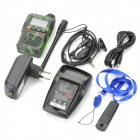 "BAOFENG UV-3R 1.4"" LCD 2W 136~174 / 400~470MHz Dual Band Walkie Talkie - Camouflage Green"