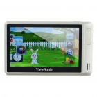"Portable 4.3"" LTPS Touch Screen Media Player with TF Slot - Light Champagne (4GB)"