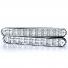 Auto Car 1.3W 30-LED 200LM 6000K White/Yellow Light Daytime Running Lamp (DC 12V/Pair)