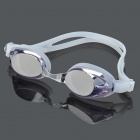 Anti-Fog PC Lens Swimming Goggles Glasses - Silver White