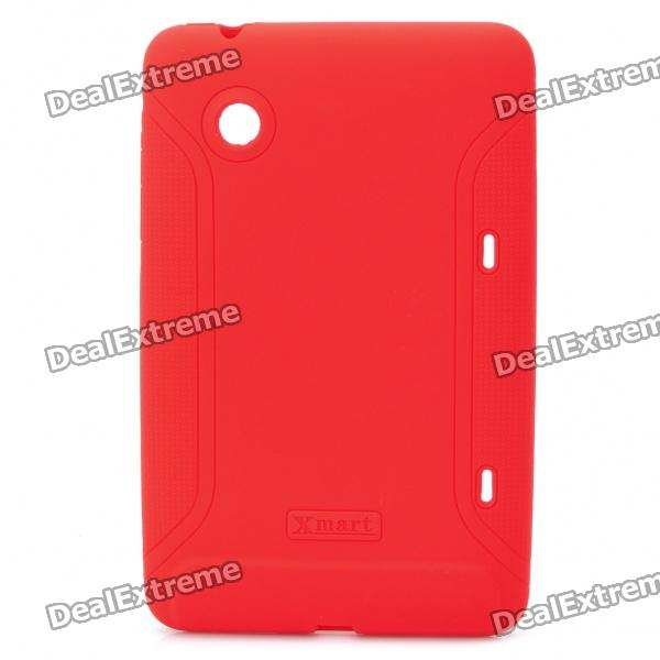 XMART Protective Silicone Back Case for HTC Flyer - Red lg easy flyer warm orbit