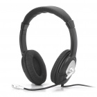Stylish Headphone Headset w/ Microphone - Black (3.5mm Jacks / 175cm-Cable)