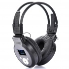 Sports Stereo Rechargeable MP3 Player Headset w/ TF / Line In / FM - Black