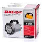 Rechargeable 3W 120-Lumen 2-Mode 1-LED White Light Spotlight Searchlight - Dark Grey + Black