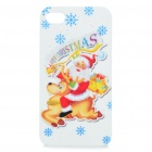 Merry Christmas Santa Claus Pattern Protective Case for Iphone 4S (White + Gold + Red)