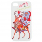 Protective Merry Christmas Santa Claus Pattern ABS Case for Iphone 4S (Red + White)