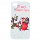 Protective Merry Christmas Santa Claus Pattern ABS Case for Iphone 4S (White + Red)