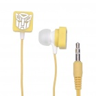 Stylish Transformer Pattern In-Ear Earphone - Yellow (3.5mm-Jack / 105cm-Cable)