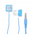 Stylish Transformer Pattern In-Ear Earphone - Blue (3.5mm-Jack / 103cm-Cable)