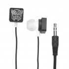 Stylish Transformer Pattern In-Ear Earphone - Black (3.5mm-Jack / 104cm-Cable)