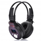 Sports Stereo Rechargeable MP3 Player Headset w/ TF / Line In / FM - Black + Coffee