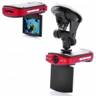 "2.5"" TFT LCD 300KP Wide Angle Car DVR Camcorder w/ 4-LED IR Night Vision / TV Out / SD"