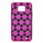 Football Pattern Protective Back Case for Samsung i9100 - Pink + Black