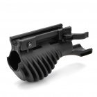 21mm Rifle Rail Potato Grip Flashlight / Laser Mount - Black